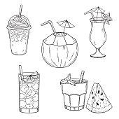 Summer cold drinks set