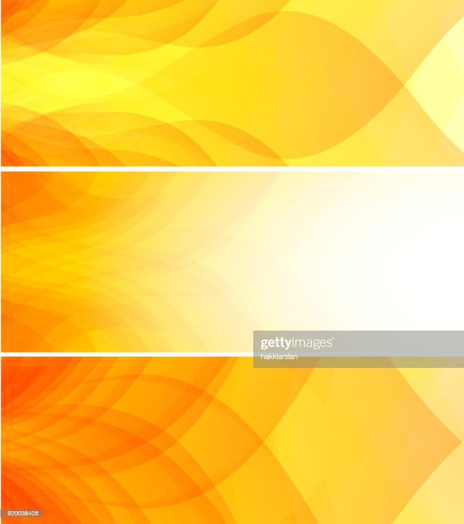 Summer concept abstract yellow background & banner set.