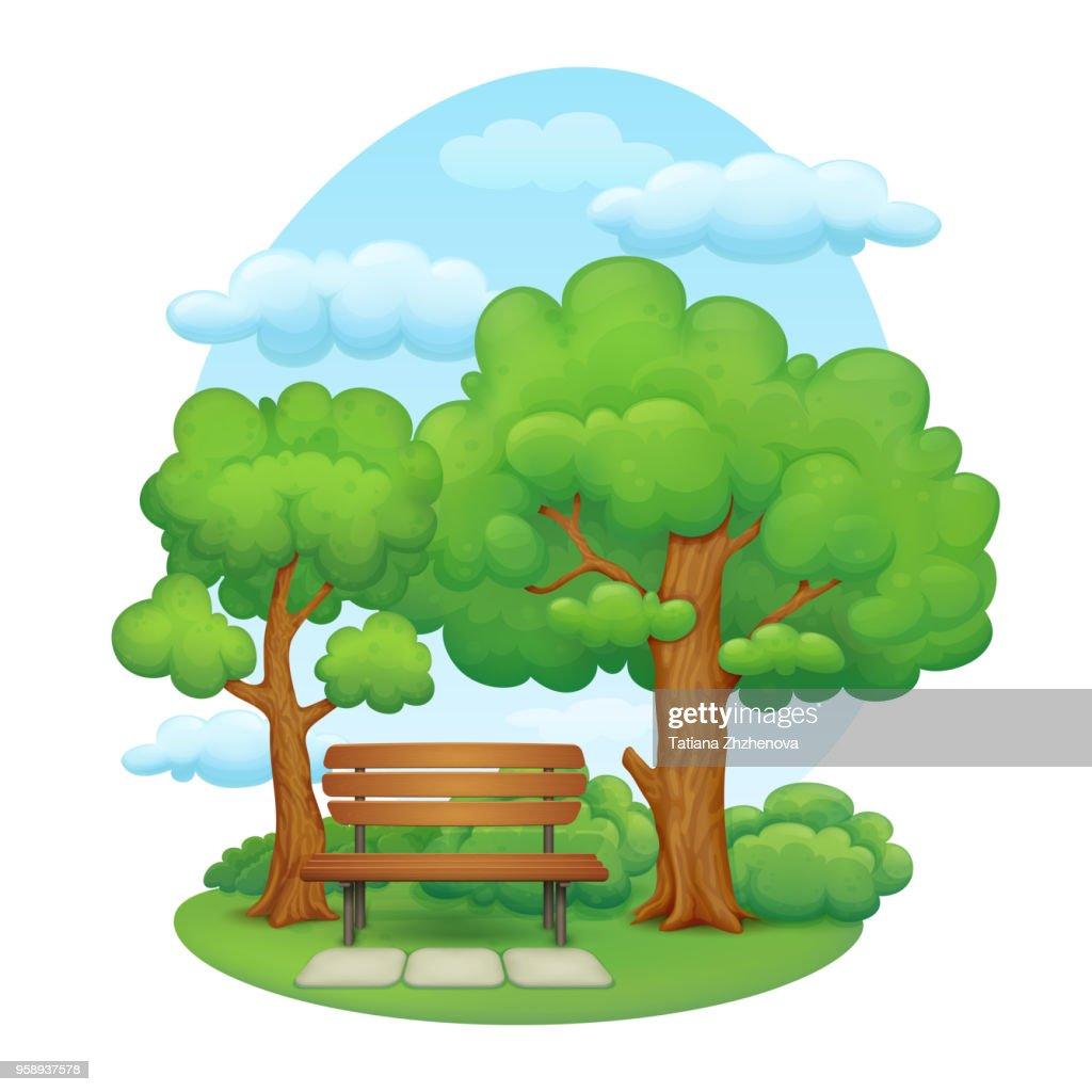 Summer day park scene