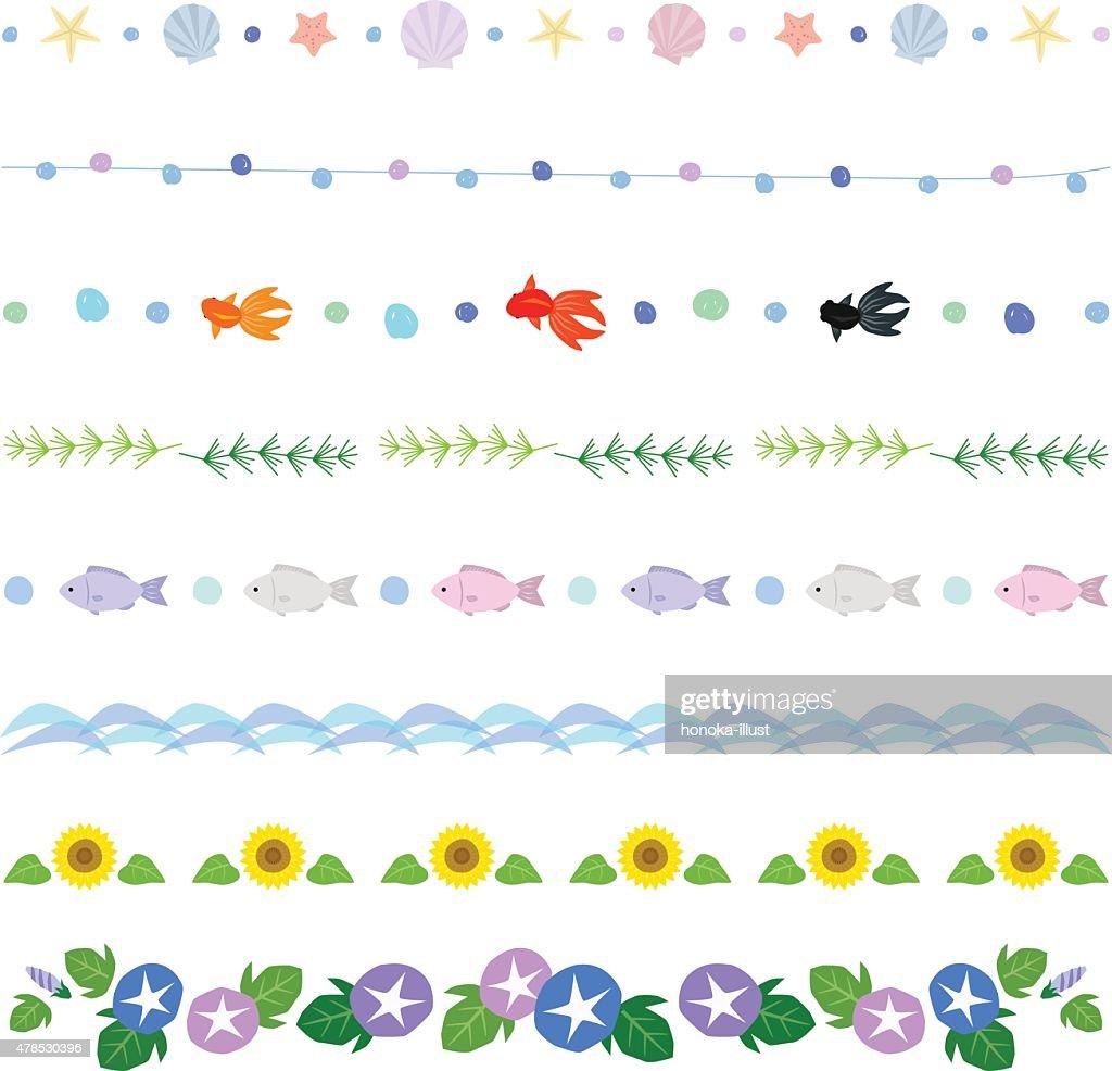 summer decorative borders