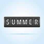 Summer departure board