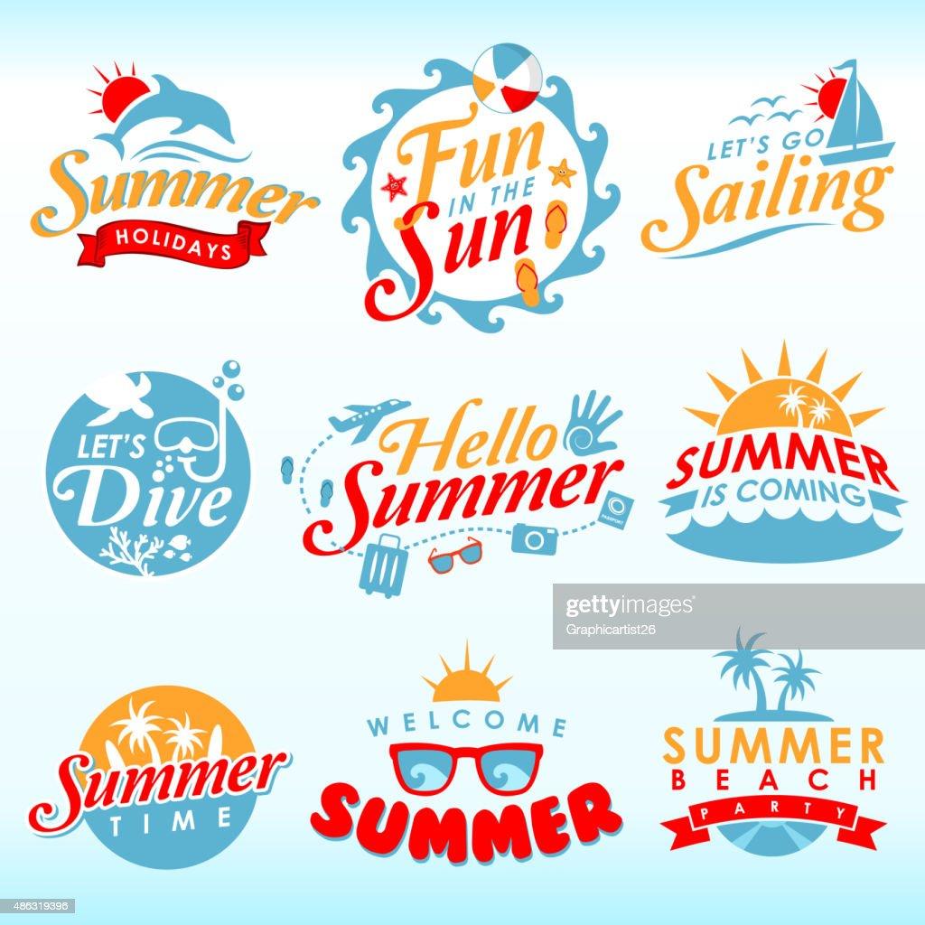 Summer Design Element