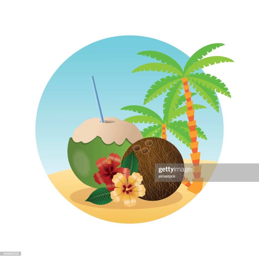 Summer design. Holidays icon. Colorfull illustration, vector gra
