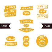 Summer doodle phrase collection