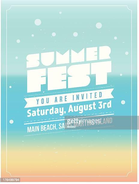 summer fest design - summer stock illustrations