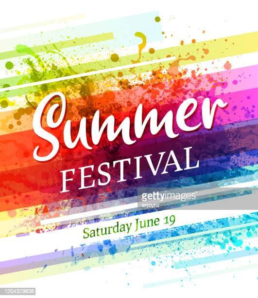 夏祭ポスター招待 - 伝統的な祭り点のイラスト素材/クリップアート素材/マンガ素材/アイコン素材