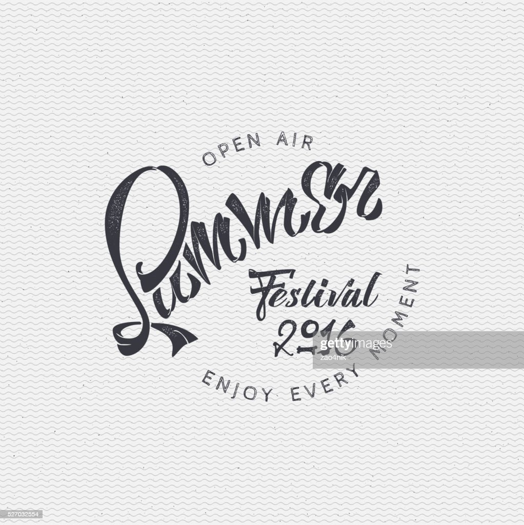 Summer festival - poster, stamp, badge, insignia, postcard, sticker, can