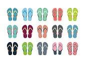 Summer flip flops set