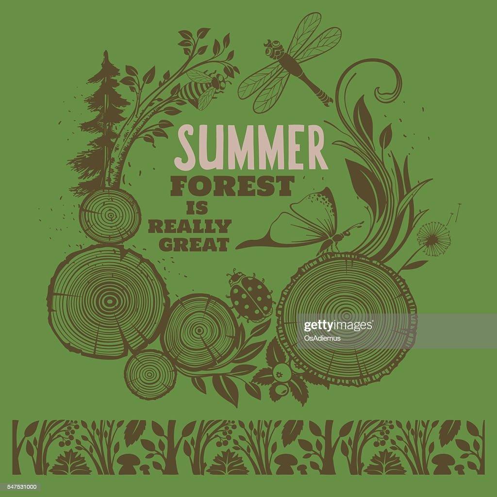Summer Forest Illustration