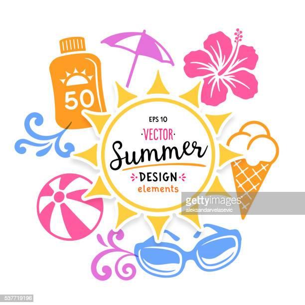 summer graphics - icons - fun stock illustrations, clip art, cartoons, & icons