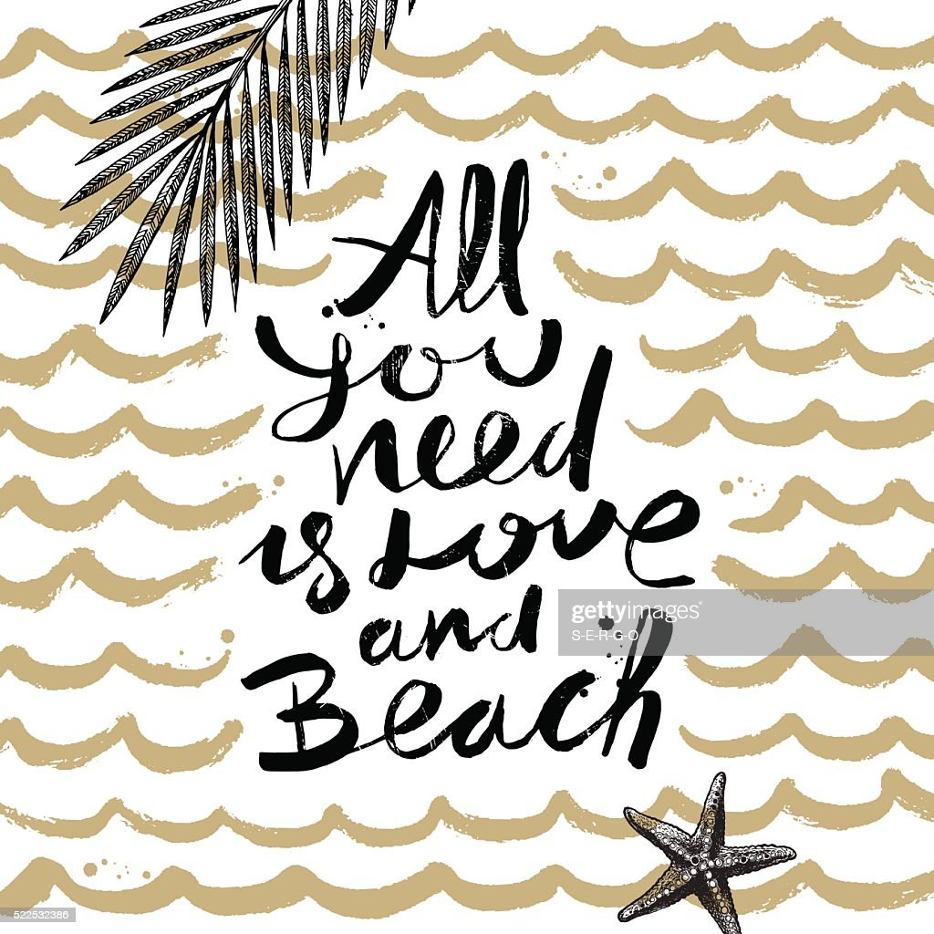 Summer holidays and vacation hand drawn vector illustration. Handwritten calligraphy.