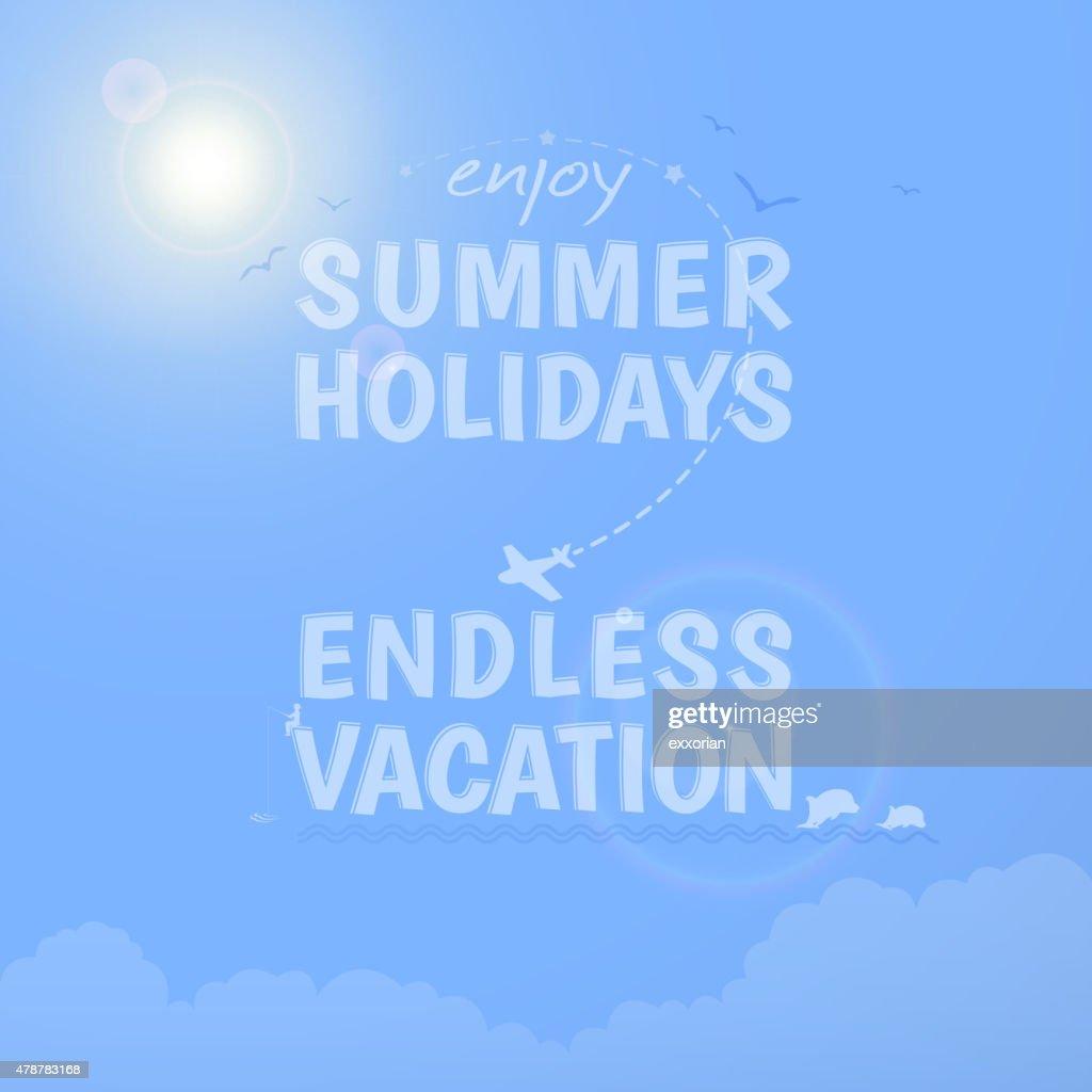 Summer holidays background : stock illustration