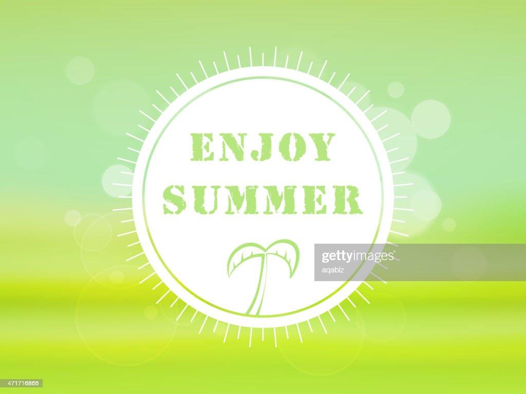 Summer Holidays celebration sticker.