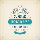 Summer holidays coming curl poster