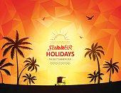 Summer holidays theme