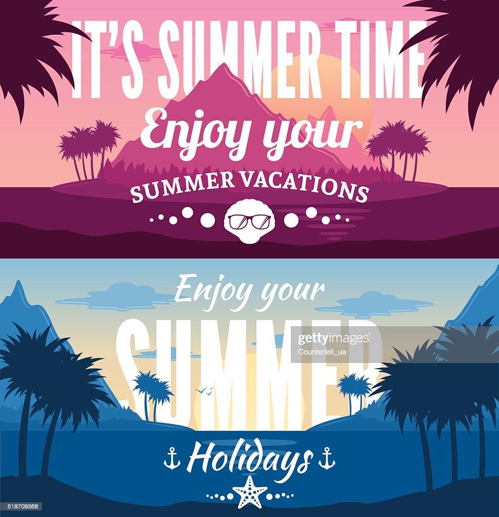 Summer Horizontal Banner Set