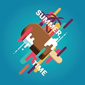 Summer ice cream poster
