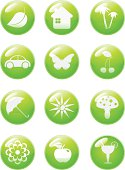 Summer icon set. Buttons
