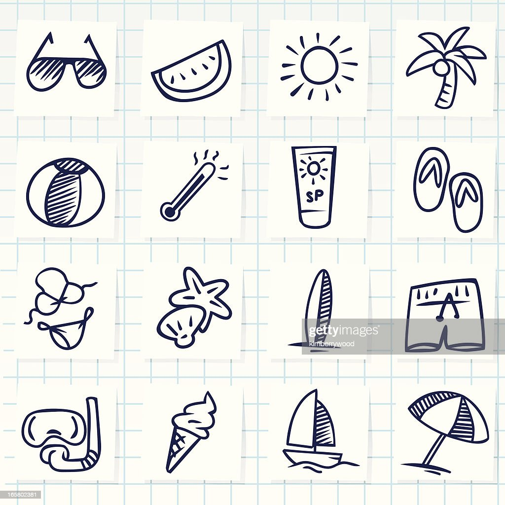Summer Icon : stock illustration