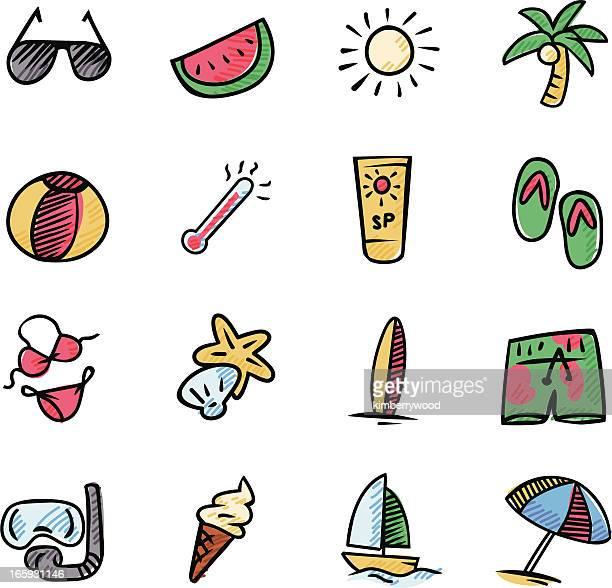 bildbanksillustrationer, clip art samt tecknat material och ikoner med summer icon - newtons pendel