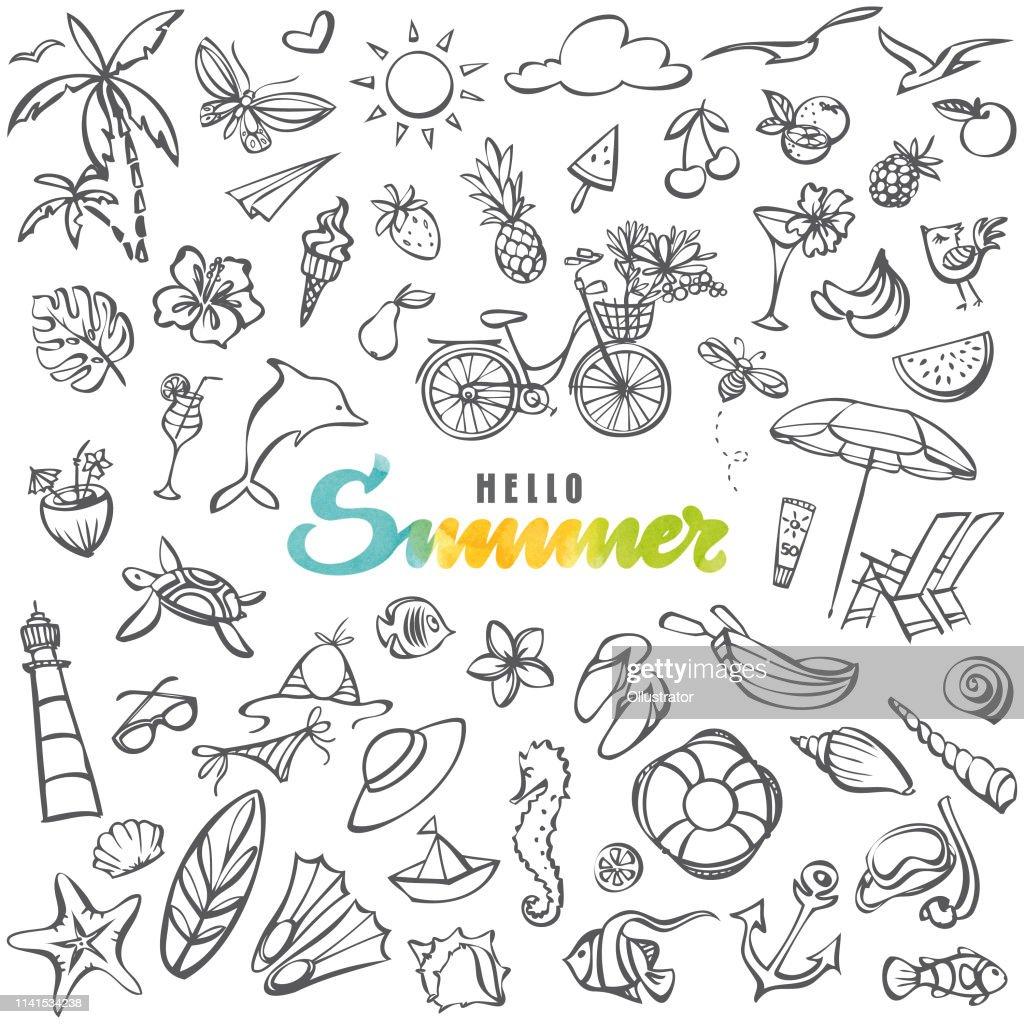 Collection d'icônes d'été : Illustration