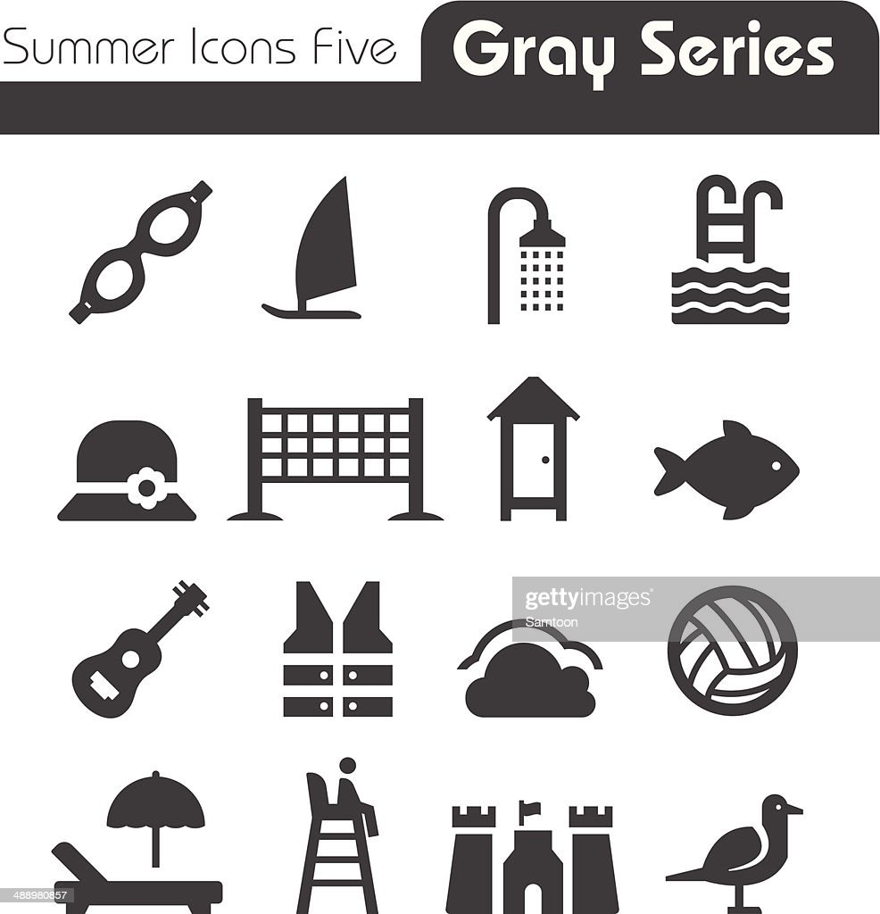 Summer Icons Five gray series