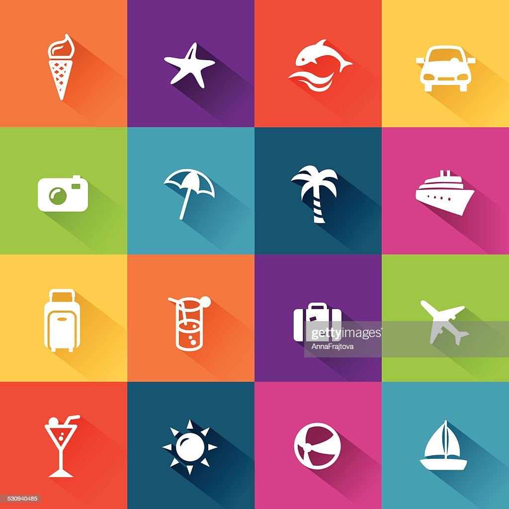 Summer Icons Flat Design