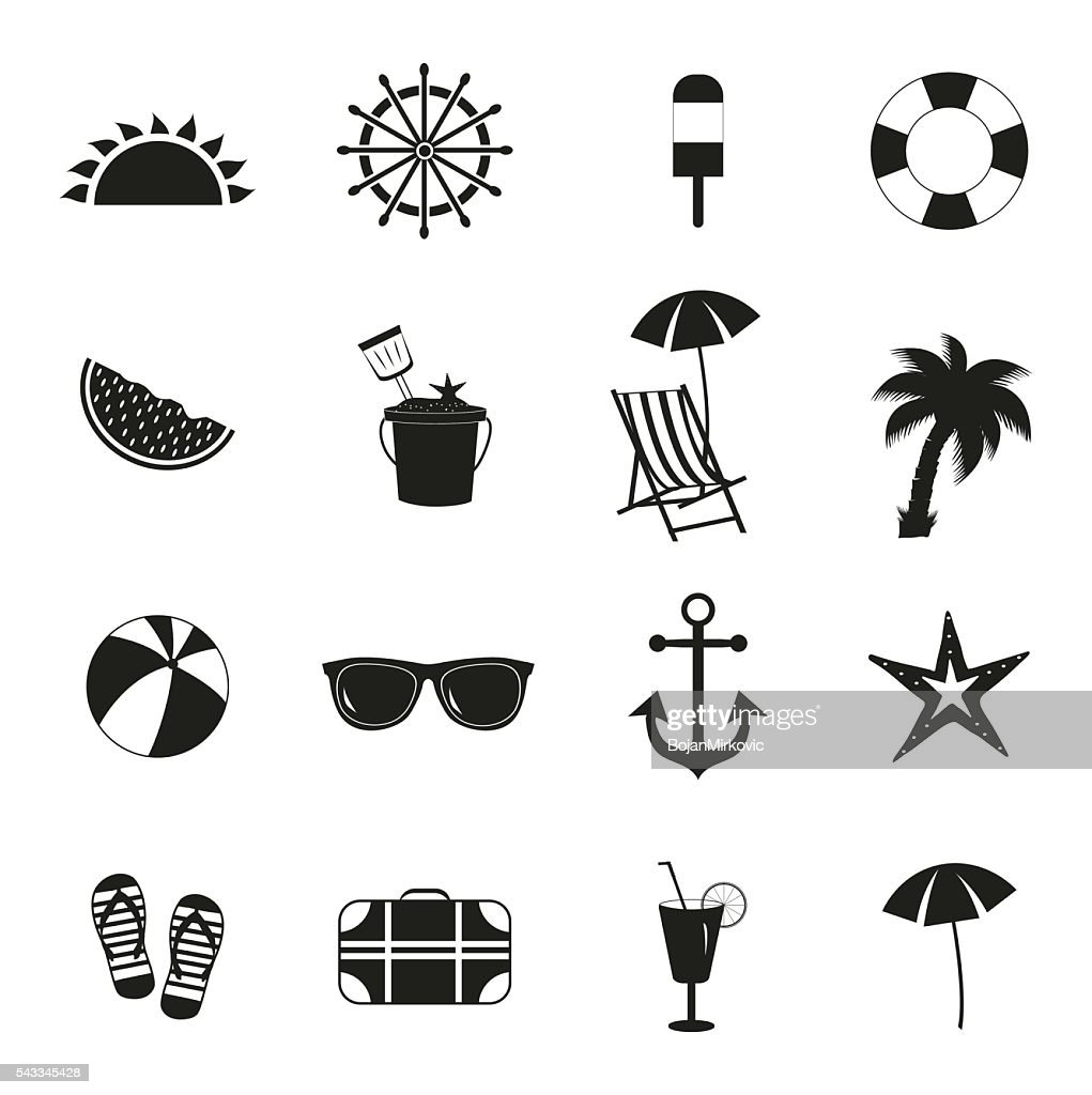 summer icons summer black icons on white background high res vector graphic getty images https www gettyimages com detail illustration summer icons summer black icons on white royalty free illustration 543345428