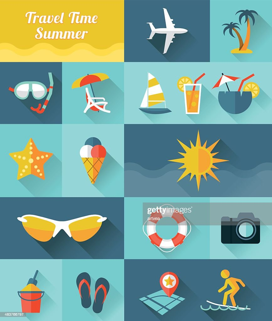 Summer Icons stock illustration - Getty Images