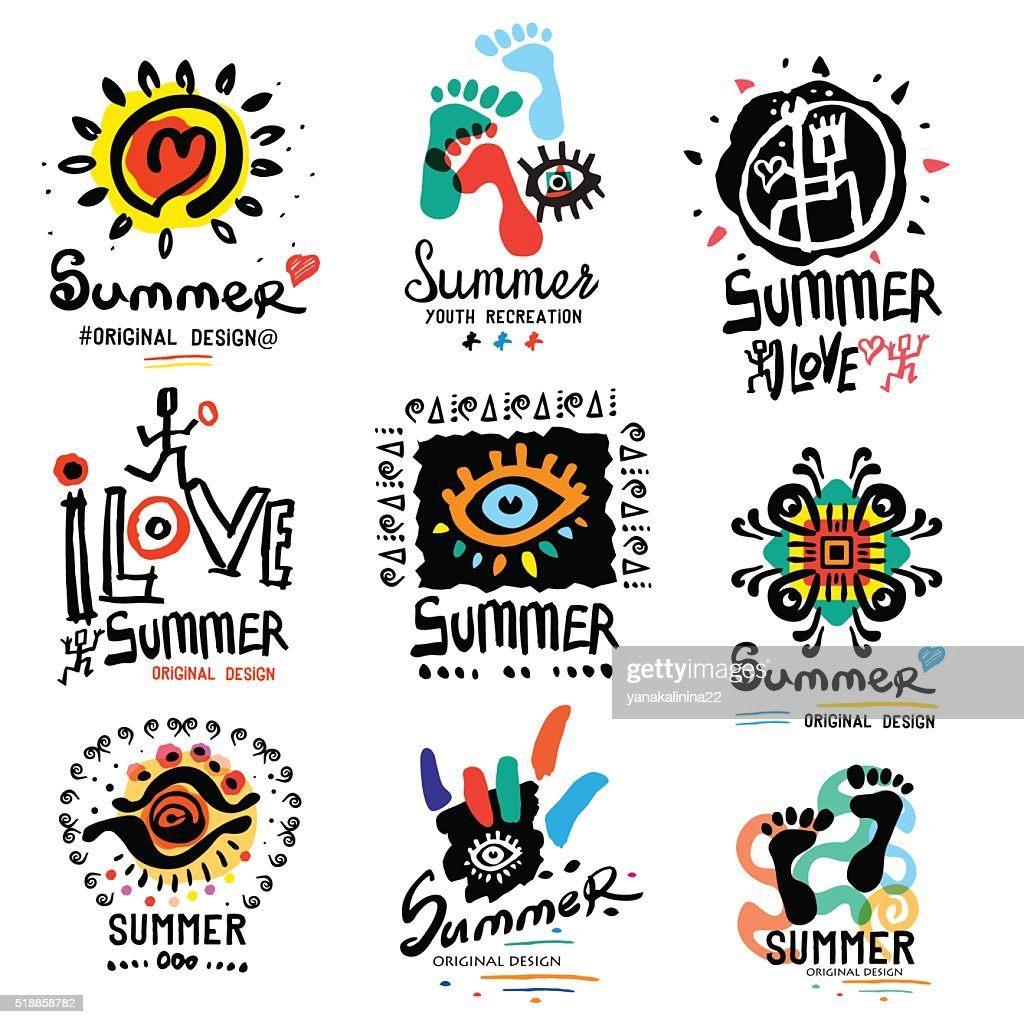Summer illustrations and symbols
