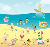 Summer kids playing beach [5 Millionth approved iStock file]