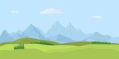 Summer landscape background. Vector