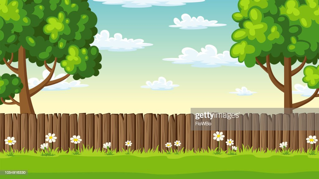 Summer Landscape With Fence