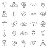 Summer line icons. Set 1.Vector