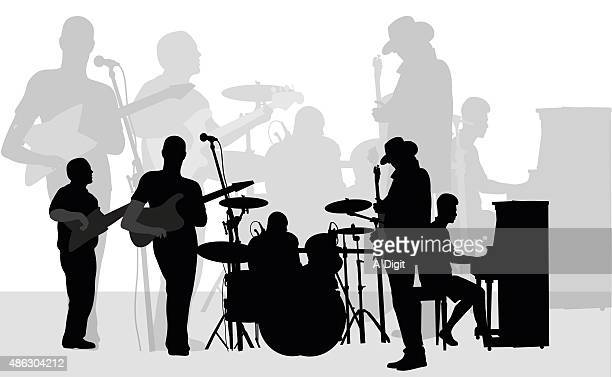 Summer Live Performance Silhouette