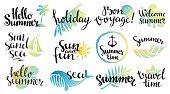 Summer logo set