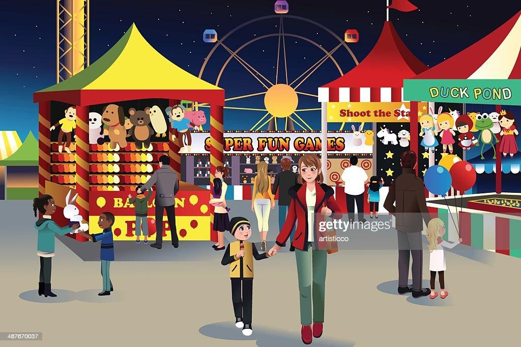 Summer night outdoor fair