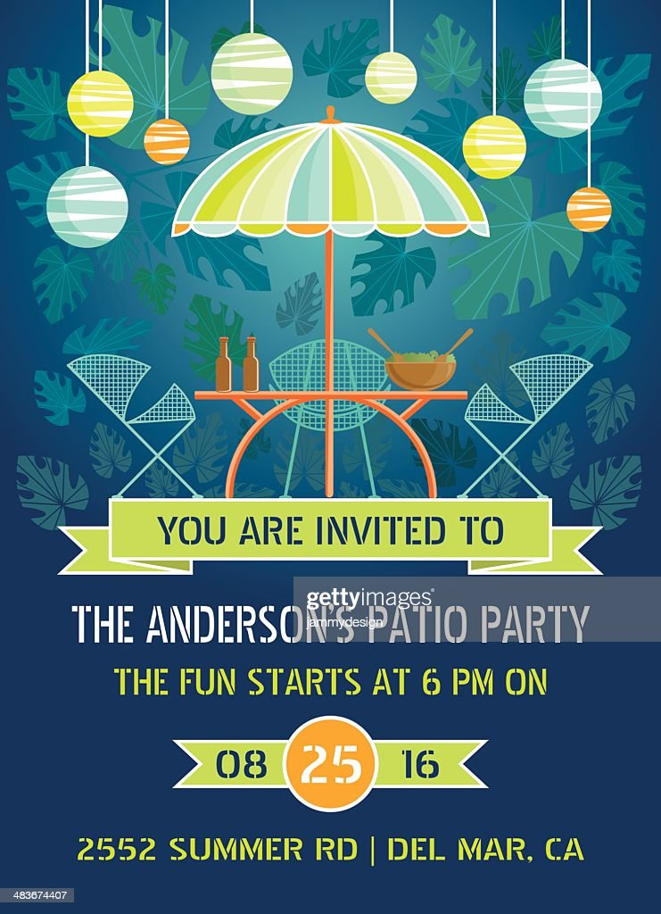 Summer Night Patio Party