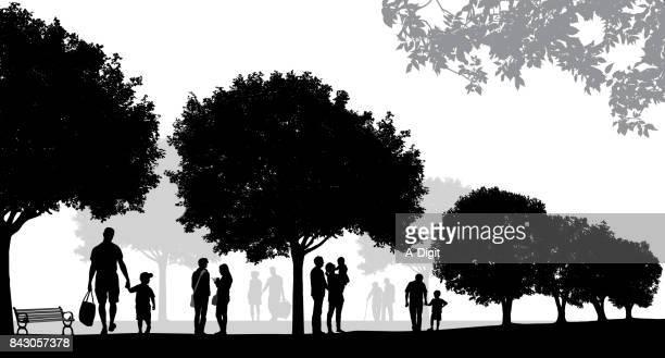 summer parks - clip art stock illustrations