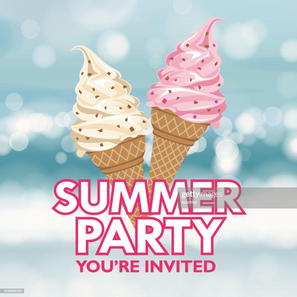Summer Party Invitation : stock illustration