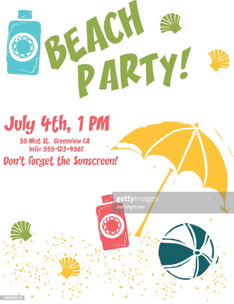 Summer Party Invites Vector Art | Getty Images