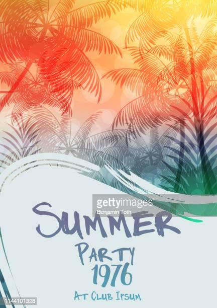 夏のパーティーポスターデザイン - 北ヨーロッパ点のイラスト素材/クリップアート素材/マンガ素材/アイコン素材