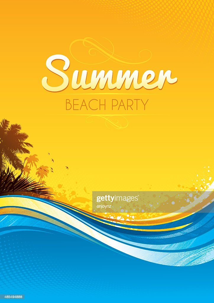 Summer party poster : stock illustration