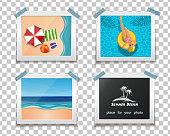 Summer photos on a transparent background