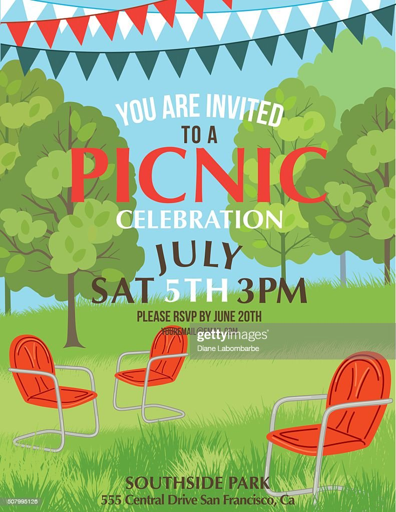 Summer bbq party invitation template vector art getty images keywords monicamarmolfo Images