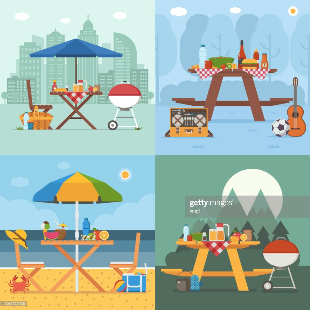 Summer Picnic Tables Collection