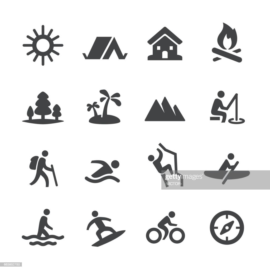 Summer Recreation Icons - Acme Series