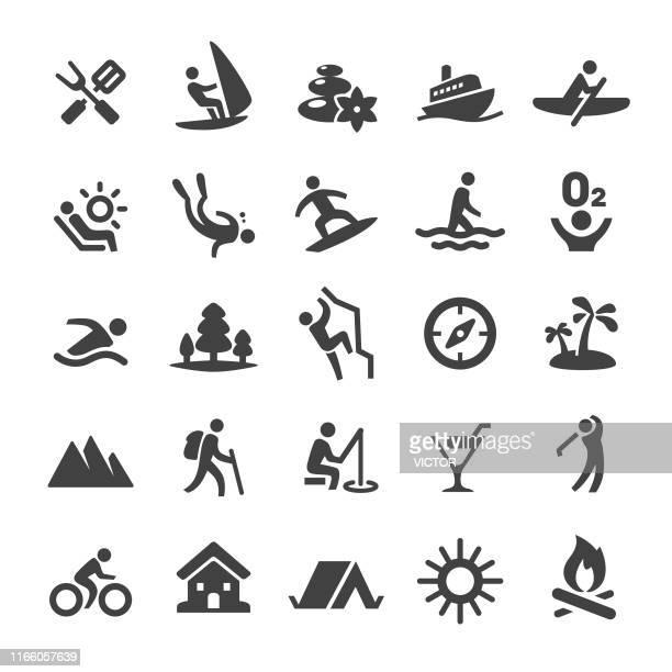 sommer freizeit icons - smart series - schwimmen stock-grafiken, -clipart, -cartoons und -symbole