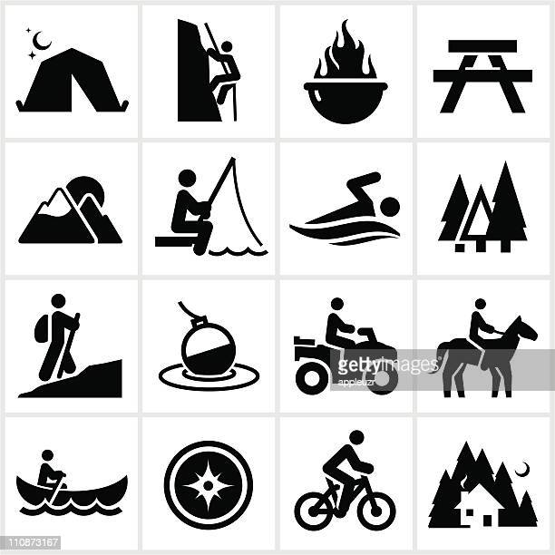 summer recreation icons - horse stock illustrations