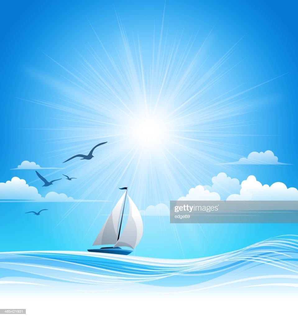 Summer Sailing Background